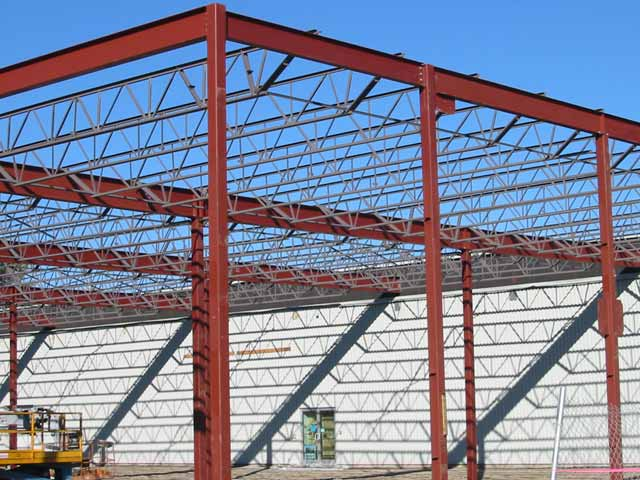 Commercial structural steel project
