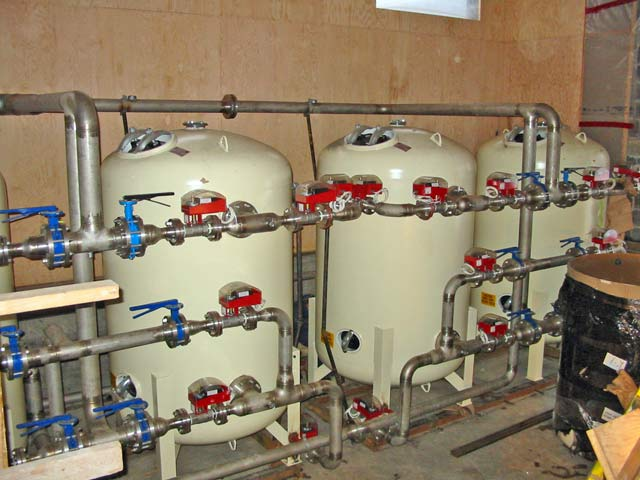 Iron and manganese filtration system