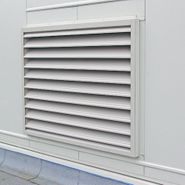 Custom fitted HVAC louver