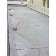 Cricket and roof drain installation