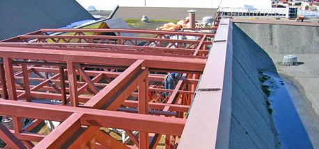 Commercial structural steel installation
