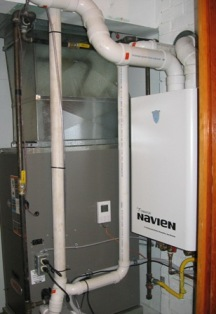 residential furnace and hot water heater