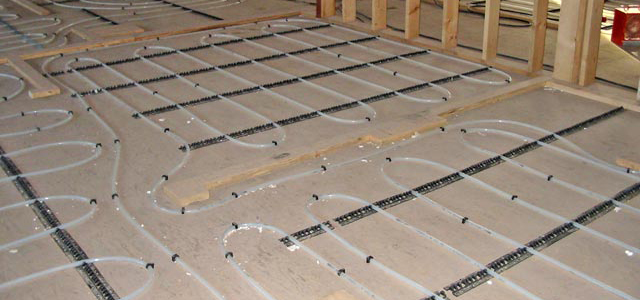 commercial in-floor radiant heating system